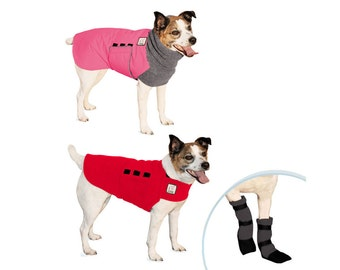 JACK RUSSELL TERRIER Cold Climate Special, Winter Dog Coat, Dog Sweater, Dog Booties, Waterproof Dog Jacket, Fleece Dog Coat, Winter Boots