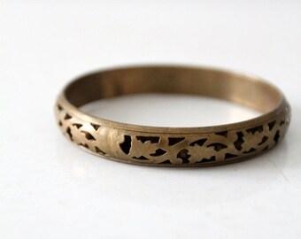 SALE 1970s brass slip on bracelet