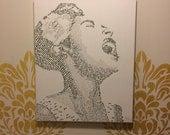 Billie Holiday Lyric Piece on Canvas