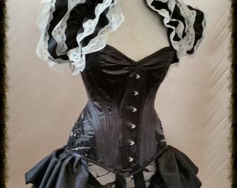 "28"" waist corset GOTHIC GLAMOUR Wedding Overbust Corset   Gothic Burlesque. Ready To Ship."