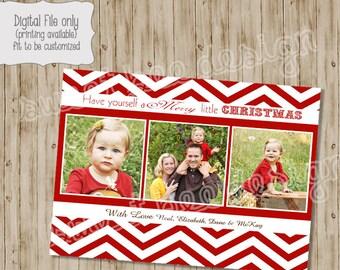 Christmas Card, Christmas Photo Card, Holiday Card, Chevron, Chevron Holiday Card, Holiday Photo Card, Custom, Photo Card, Chevron