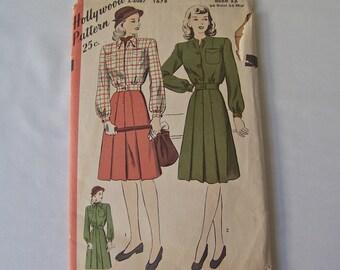 Vintage Ladies Jacket and Skirt Pattern 1930s Hollywood Pattern Sewing Pattern Vintage Sewing Room