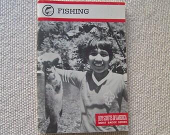Vintage Fishing Boy Scouts Of America 1991 Merit Badge Series