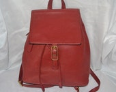 COACH Bag ~Coach~Coach Backpack~RED Coach ~Leather Bag-Excellent Condition-Authentic