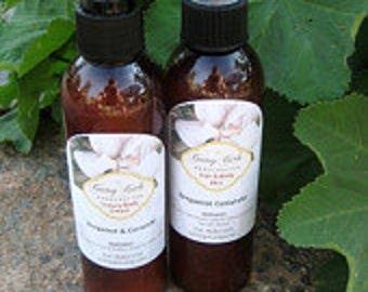 All Natural Bergamot Coriander  Body Creme Body Spray  Paraben Free Aromatherapy  2PC Set 8 oz Bottles