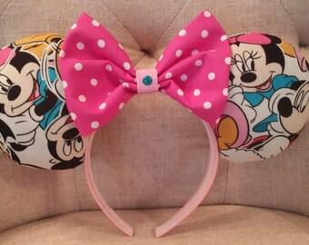 Mickey and Minnie inspired Mickey ears
