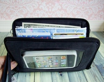 phone wallet wristlet •  Keep in Touch MEGA Wallet (1b)