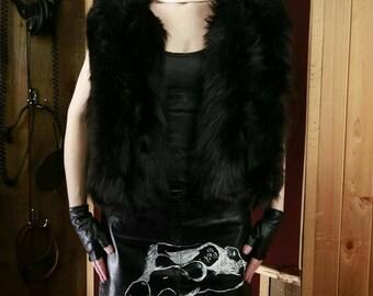 RebelXXXIII faux fur vest