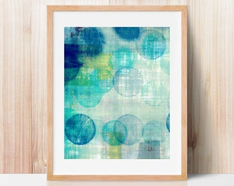 blue abstract, abstract art, office art, contemporary art, geometric print, modern painting, mid century art, modern art, textured art