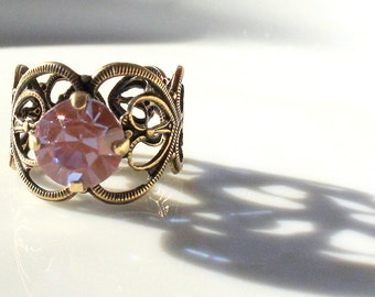 Saphiret Saphirene Glass Filigree Ring