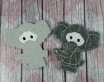 Elephant finger puppets, Stick Puppets, zoo puppet, safari puppet
