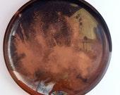 Resin Platter Brown, Black, Gold Mixed Metallic - Handmade - Neutral, Copper, Dusty, Organic - Homewares, House Gift, Plate, Serving Platter