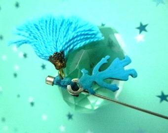 blue girl pin brooch