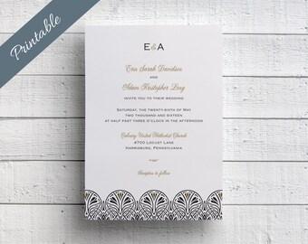 Art Deco Wedding Invitation Printables