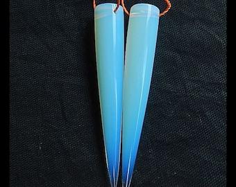 Opalite Tube Earring Bead,49x8mm,7.3g