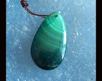 New,Malachite Pendant Bead,25x15x5mm,4.0g