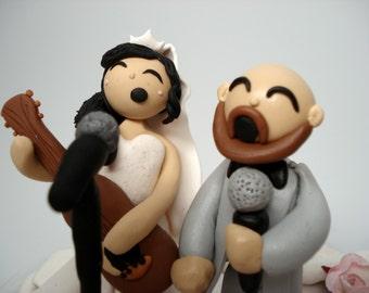 Musicians Wedding Cake Topper Custom Wedding Decor Bridal Shower Cake Groom's Cake Topper Anniversary Cake Topper