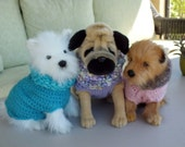 Dog Sweaters set of three XX Small 10 inches long