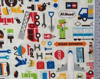 Push the pin fabric car Japanese cotton fabric