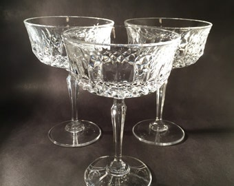 3 Crystal Champagne Coupes