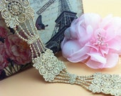 "5 yard 3.5cm 1.37"" wide gold wedding mesh embroidery lace trim ribbon L32K300 B011 free ship"