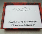 Bridesmaid Gift Card in Small Box for Necklace - Bridesmaid Proposal - Ask Bridesmaid Message Card for Bridal Party Gifts
