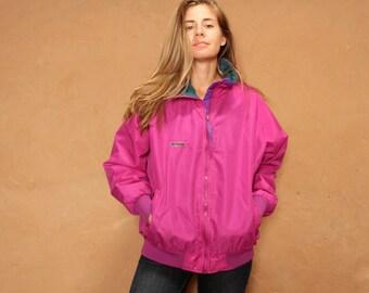 90s COLOR BLOCK neon womens SKI fleece columbia Jacket