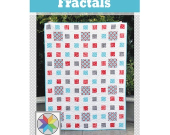 Fractals Quilt Pattern (PDF) with baby, throw, twin and queen sizes