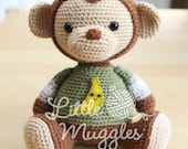 Amigurumi Crochet Pattern - Miles the Monkey