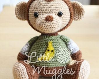 Amigurumi Crochet Pattern - Miles the Monkey