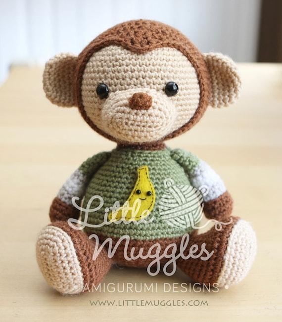 amigurumi crochet pattern miles the monkey. Black Bedroom Furniture Sets. Home Design Ideas