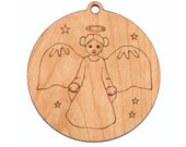 Christmas angel // personalized ornament // wooden ornament // holiday decoration