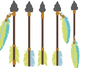 Arrows, single arrow embroidery designs collection, 5 types in multiple sizes - 4, 5, 6 and 7 inches - pillow design