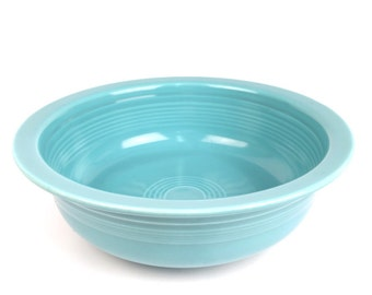 Fiestaware Turquoise Nappy Bowl