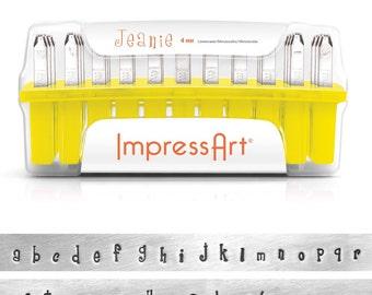 ImpressArt - Alphabets 4mm Lower Case Jeanie Stamp Set  (4943)/1