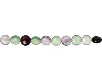 Fluorite Banded Coin Bead  6x12mm - 1 Strand (9235) Wholesale price