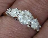 ANTIQUE EDWARDIAN European Cut DIAMOND (1.40cts) Wedding Band Circa 1910-15