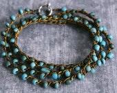 beaded bracelet, boho wrap bracelet, boho bracelet, turquoise bracelet, stackable bracelet, bohemian jewelry, boho jewelry, christmas gift