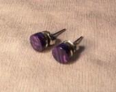 Custom order - handmade orchid post earrings
