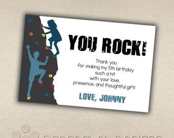 Rock Climbing Thank You Card