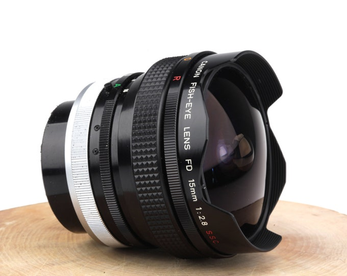 Canon Fish-Eye FD 15mm 1:2.8 S.C.C Manual Focus Super Wide Angle Lens