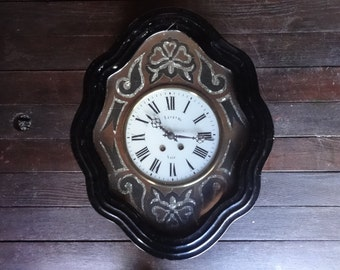 Vintage French Vire Mother Of Pearl Wall Mounted Clock circa 1900's / English Shop