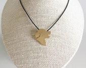 Golden Retriever necklace, Golden Retriever charm, Golden Retriever silhouette, Brass dog necklace, pet memorial gift