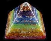 Chakra Orgonite Pyramid.  Orgone Energy Generator