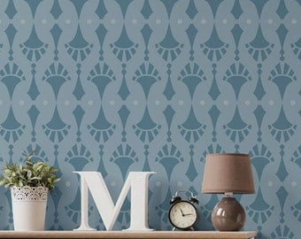 Rattle and Roll Wall Border Stencil for Easy DIY Wallpaper Decor
