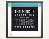 Buddha Quote - Graphic Design Typography Giclee Prints - He Said She Said Series