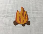 6 Campfire Embellishment Die Cuts for Scrapbooking Cards and Paper Crafts Camp Fire