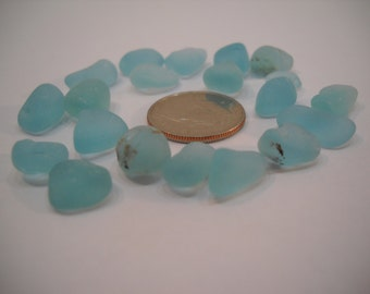 Genuine Aqua Sea Glass From the Pacific Northwest Surf Tumbled Sea Glass