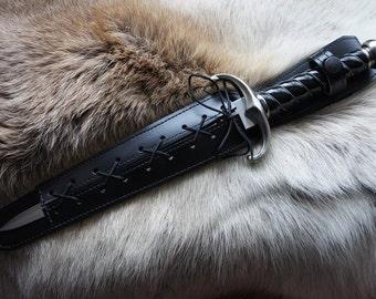 Large Leather Athame Belt Sheathe