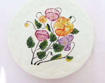Antique Cake Plate, Northwood Glass, Cake Platter, Custard Glass Decorative Plate - Geneva Pattern